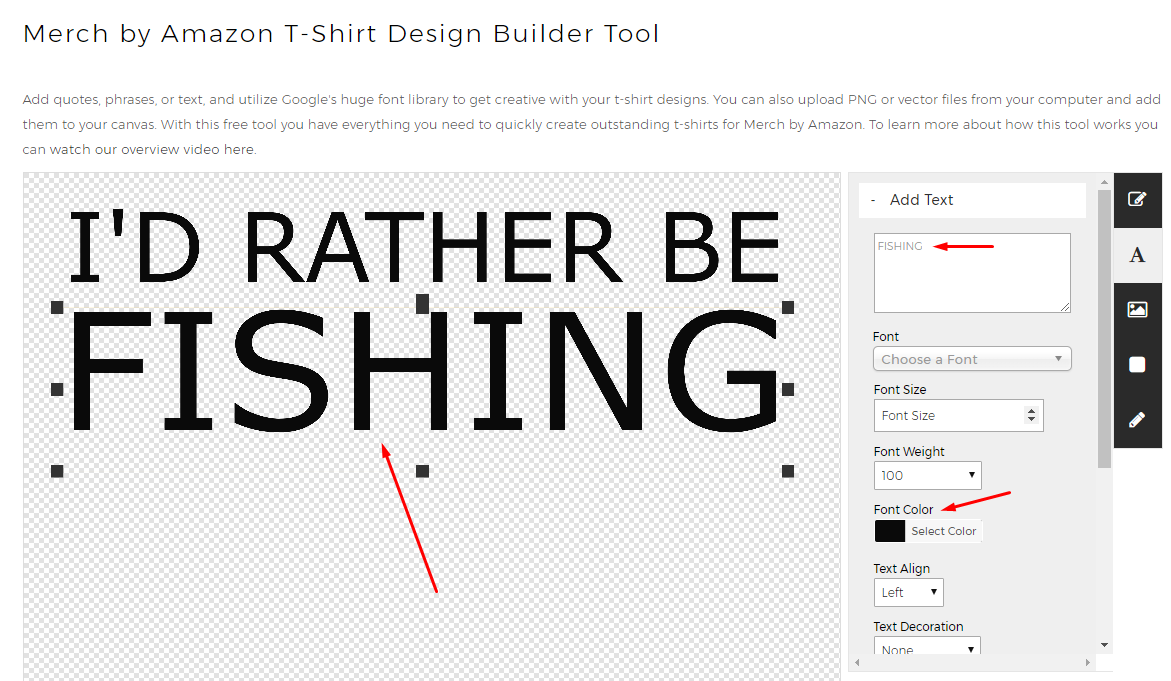 Free T-Shirt Builder - Step 2 - Text Customization
