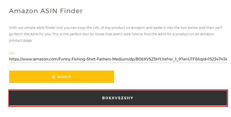 ASIN Finder - Amazon Tool