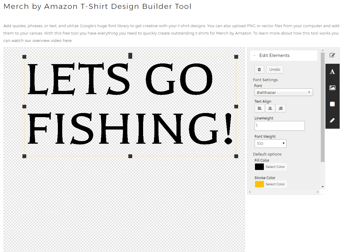 Merch by Amazon T-Shirt Builder - Free Tool